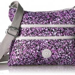 Kipling Alvar Ocean Breeze Purple กระเป๋าสะพายข้าง หลายช่องซิป ขนาด L13 x H 10 x D 1.75 นิ้ว
