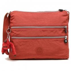 Kipling Alvar Red Rust จากเบลเยี่ยม กระเป๋าสะพายข้าง หลายช่องซิป ขนาด L32 x H 25 x D 4 cm