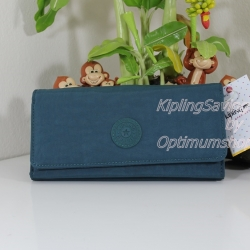 Kipling New Teddi Farmhouse Green หรือชื่อเดิม Brownie กระเป๋าสตางค์ใบยาว ขนาด 7.5x3.75x1xนิ้ว