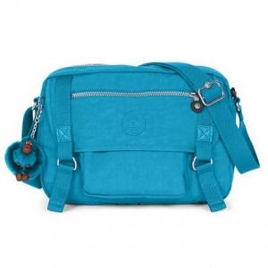 Kipling Gracy Polaris Blue กระเป๋าสะพายข้าง ทรงเก๋ เหมาะกับสาวสมัยใหม่ ขนาด L11.75 x H 8.25 x D 4.75 นิ้ว
