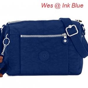 Kipling Wes Ink Blue กระเป๋าสะพายใบเล็ก ค่อนไปกลางๆ ขนาด L9 x H 6.25 W 5.5 นิ้ว