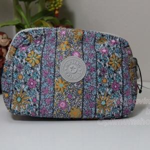 Kipling Mandy Floral Chain ลายดอกไม้ กระเป๋าใส่ของจุกจิก ขนาด 7 x 5 x 2.75 นิ้ว