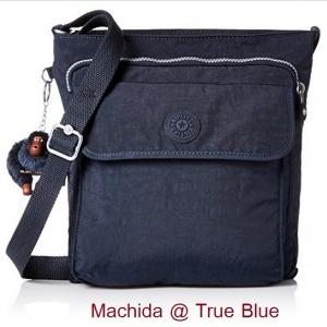 Kipling Machida True Blue กระเป๋าสะพายสีน้ำเงินกรมท่า ใส่ IPAD ได้ ผู้ชายก็ใช้ได้ ขนาด 10.5*11.75*2 นิ้ว