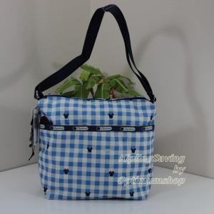 Lesportsac Small Cleo Check and Bows กระเป๋าสะพายขนาดเล็ก ขนาด 9 x 9 x 4.5 นิ้ว