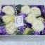 กล่องดอกไม้ กุหลาบขาว ม่วง ฝาปิดครอบได้ (L) thumbnail 2