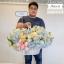 กระเช้าดอกไม้ ฟ้า พาสเทล (XL) thumbnail 2