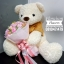 ตุ๊กตาหมี อุ้มช่อดอกไม้ สีหวานๆ (Premium) thumbnail 4