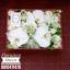 กล่องดอกไม้ วันเกิด ขาวแดง(M) thumbnail 1