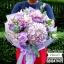 ช่อดอกไม้ ม่วง ชมพูซากุระ (L) thumbnail 1