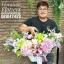 กระเช้าดอกไม้ Floraison's โอกาสแสดงความยินดี (L) thumbnail 2