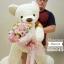 ตุ๊กตาหมี อุ้มช่อดอกไม้ สีหวานๆ (Premium) thumbnail 5