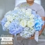 กล่องดอกไม้ สีฟ้า ขาว (L) thumbnail 1