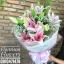ช่อดอกไม้ลิลลี่สีชมพูหวานล้วน (M) thumbnail 1