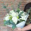ช่อดอกไม้ กุหลาบขาว ลิลลี่ (M)
