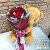 ตุ๊กตาหมีช่อกุหลาบแดง (L)