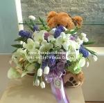 Sorry Bear :( | ช่อดอกไม้ พร้อมตุ๊กตาหมี