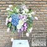 แจกันดอกไม้วันเกิด ทิวลิป-ไฮเดรนเยีย