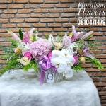 กระเช้าดอกไม้ ลิลลี่ ไฮเดรนเยีย ฟาแลน (L)