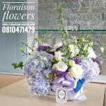 กล่องดอกไม้ โทนสีม่วงพาสเทล (L)