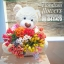 ตุ๊กตาหมี แจกช่อดอกไม้ทิวลิป (PREMIUM) thumbnail 1