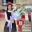 ช่อดอกไม้สไตล์อังกฤษ ไซส์ XL โอกาสแสดงความยินดี โทนสีม่วงพาสเทล thumbnail 2