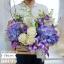 กล่องดอกไม้ แสดงความยินดี ม่วง ขาว (M) thumbnail 1
