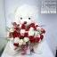 ตุ๊กตาหมีกอดตะกร้าดอกไม้ กุหลาบแดง ขาว (PREMIUM) thumbnail 1