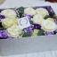 กล่องดอกไม้ กุหลาบขาว ม่วง ฝาปิดครอบได้ (L) thumbnail 1