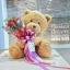 หมีกอดช่อดอกไม้วันเกิด (L) thumbnail 1