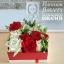 กล่องดอกไม้ กุหลาบ แดงขาว (M) thumbnail 1