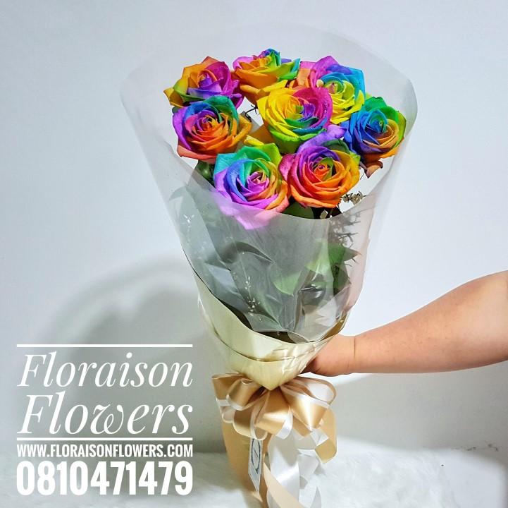 ช่อกุหลาบสีรุ้ง Rainbow   (Limited Premium)