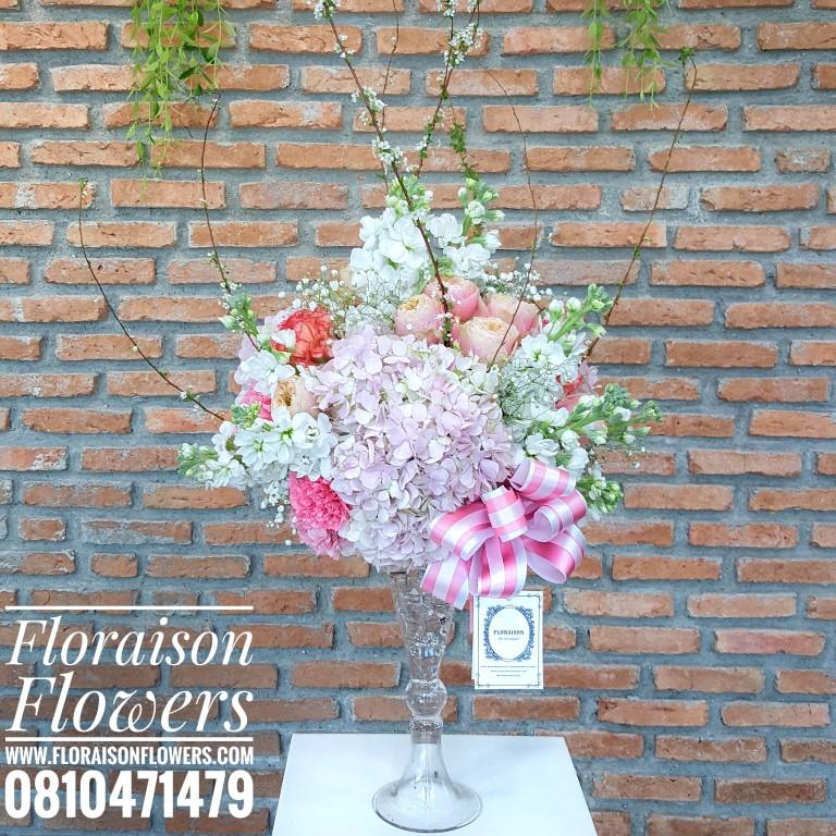 แจกันดอกไม้วันเกิด ไฮเดรนเยีย-ซากุระ (L)